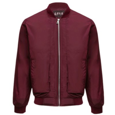 Thin Oversize Solid Color Baseball Collar Jacket