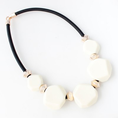 Exotic Geometric CCB Plastic Rope Chain Necklace