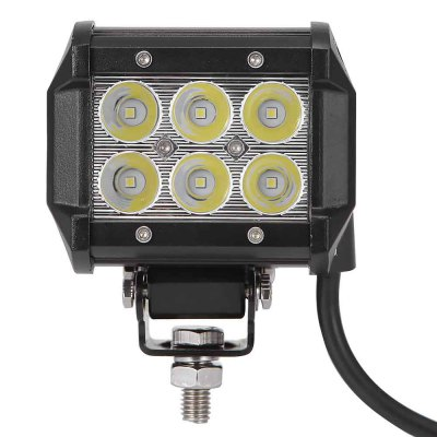 4PCS DC 9 - 30V 18W 1800LM 6500K LED Car Top FloodlightCar Headlights<br>4PCS DC 9 - 30V 18W 1800LM 6500K LED Car Top Floodlight<br><br>Apply lamp position : External Lights<br>Connector: Cable Connector<br>Emitting color: White<br>LED/Bulb quantity: 6pcs<br>Light mode: Steady<br>Lumens: 1800lm<br>Material: Metal, Plastic<br>Package Contents: 4 x Car Light, 4 x Screw, 4 x Nut, 4 x Ring, 16 x Screw, 16 x Washer, 4 x Bracket<br>Package size (L x W x H): 48.50 x 14.00 x 14.00 cm / 19.09 x 5.51 x 5.51 inches<br>Package weight: 2.050 kg<br>Power: 18W<br>Product size (L x W x H): 10.00 x 6.50 x 8.00 cm / 3.94 x 2.56 x 3.15 inches<br>Product weight: 0.600 kg<br>Type: Work Light<br>Type of lamp-house : LED<br>Voltage: 9 - 30V