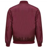 cheap Thin Oversize Solid Color Baseball Collar Jacket