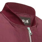 Thin Oversize Solid Color Baseball Collar Jacket for sale