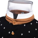 Print Polo Short Sleeve Stretchy Men Casual T-shirt for sale