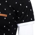 best Print Polo Short Sleeve Stretchy Men Casual T-shirt