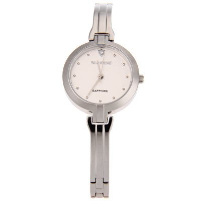 SUNRISE SL713SWA Women Quartz WatchWomens Watches<br>SUNRISE SL713SWA Women Quartz Watch<br><br>Band Length: 7.48 inch<br>Band Material Type: Stainless Steel<br>Band Width: 6 mm<br>Case material: Stainless Steel<br>Case Shape: Round<br>Clasp type: Hook Buckle<br>Dial Diameter: 1 inch<br>Dial Display: Analog<br>Dial Window Material Type: Sapphire<br>Gender: Women<br>Movement: Quartz<br>Style: Dress<br>Water Resistance Depth: 30m<br>Product weight: 0.035 kg<br>Package weight: 0.192 kg<br>Product Size(L x W x H): 19.00 x 2.80 x 0.70 cm / 7.48 x 1.1 x 0.28 inches<br>Package Size(L x W x H): 10.00 x 10.00 x 6.00 cm / 3.94 x 3.94 x 2.36 inches<br>Package Contents: 1 x SUNRISE SL713SWA Women Quartz Watch