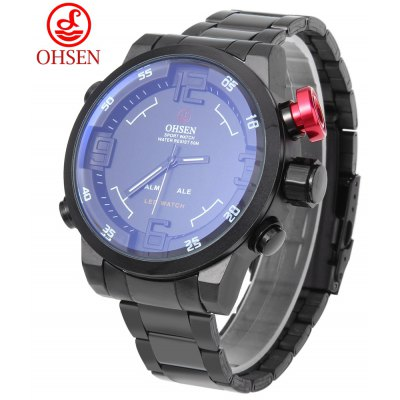 OHSEN AD1608 Male Dual Movt Quartz Digital Watch