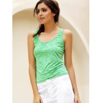 cheap Simple Scoop Collar Sleeveless Cotton Blend Women Tank Top
