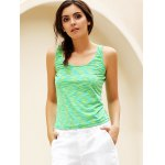Simple Scoop Collar Sleeveless Cotton Blend Women Tank Top deal