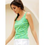 Simple Scoop Collar Sleeveless Cotton Blend Women Tank Top for sale