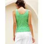 best Simple Scoop Collar Sleeveless Cotton Blend Women Tank Top