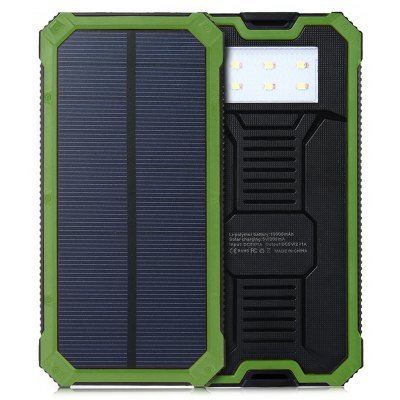 LED Light 10000mAh Solar Power Bank