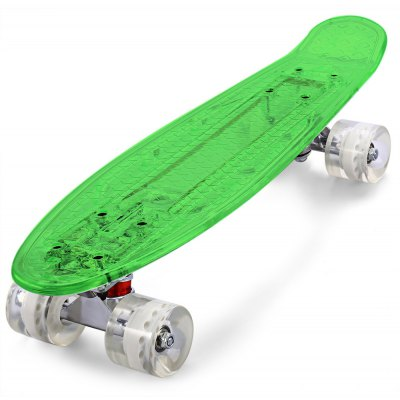 CL - 403 22 inch Transparent PC LED Retro Mini Skateboard