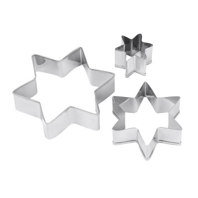 12pcs Star Heart Circle Shape Stainless Steel Cookie Cutter Mold