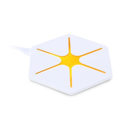Qi Wireless Charging Pad Magic Dazzle Hexagram Charger