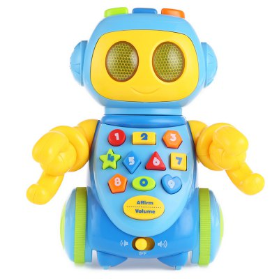 Baby Robot Learning Machine ToyOther Educational Toys<br>Baby Robot Learning Machine Toy<br><br>Age Range: &gt; 1 year old<br>Color: Multicolor<br>Features: Battery Operated,Educational,Flashing,Musical<br>Gender: Unisex<br>Material: Plastic<br>Shape: Cartoon<br>Type: Mini Learning Machine<br>Product weight: 0.600 kg<br>Package weight: 0.897 kg<br>Package Size(L x W x H): 23.00 x 27.00 x 15.00 cm / 9.06 x 10.63 x 5.91 inches<br>Package Contents: 1 x Robot Learning Machine