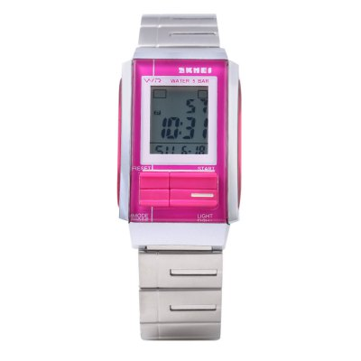 SKMEI 1173 LED Digital WatchSports Watches<br>SKMEI 1173 LED Digital Watch<br><br>Band Length: 7.25 inch<br>Band Material Type: Stainless Steel<br>Band Width: 18 mm<br>Case material: Alloy<br>Case Shape: Rectangle<br>Clasp type: Hook Buckle<br>Dial Diameter: 0.98 inch<br>Dial Display: Digital<br>Dial Window Material Type: Resin<br>Feature: Alarm,Auto Date,Back Light,Chronograph,Date,Day,Led Display,Luminous<br>Gender: Men,Women<br>Movement: Digital<br>Style: Sport<br>Water Resistance Depth: 50m<br>Product weight: 0.068 kg<br>Package weight: 0.089 kg<br>Product Size(L x W x H): 23.00 x 2.50 x 1.20 cm / 9.06 x 0.98 x 0.47 inches<br>Package Size(L x W x H): 24.00 x 3.50 x 2.20 cm / 9.45 x 1.38 x 0.87 inches<br>Package Contents: 1 x SKMEI 1173 LED Digital Watch