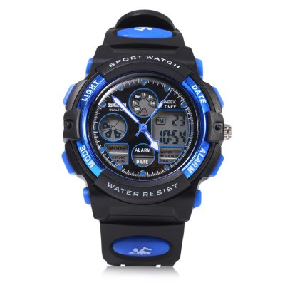 SKMEI 1163 Dual Movt Quartz WatchSports Watches<br>SKMEI 1163 Dual Movt Quartz Watch<br><br>Band Length: 8.5 inch<br>Band Material Type: Silicone<br>Band Width: 18 mm<br>Case material: Plastic<br>Case Shape: Round<br>Clasp type: Pin Buckle<br>Dial Diameter: 1.69 inch<br>Dial Display: Analog-Digital<br>Dial Window Material Type: Resin<br>Feature: Alarm,Auto Date,Chronograph,Date,Day,Led Display,Luminous<br>Gender: Men<br>Movement: Digital,Quartz<br>Style: Sport<br>Water Resistance Depth: 50m<br>Product weight: 0.050 kg<br>Package weight: 0.071 kg<br>Product Size(L x W x H): 25.00 x 4.50 x 1.60 cm / 9.84 x 1.77 x 0.63 inches<br>Package Size(L x W x H): 26.00 x 5.50 x 2.60 cm / 10.24 x 2.17 x 1.02 inches<br>Package Contents: 1 x SKMEI 1163 Dual Movt Quartz Watch