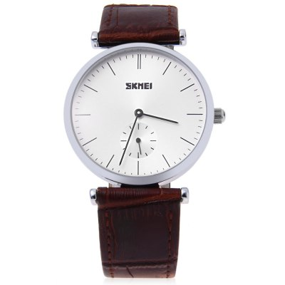 SKMEI 1175 Unisex Quartz WatchUnisex Watches<br>SKMEI 1175 Unisex Quartz Watch<br><br>Band Length: 7.87 inch<br>Band Material Type: Genuine Leather<br>Band Width: 19mm<br>Case material: Alloy<br>Case Shape: Round<br>Clasp type: Pin Clasp<br>Dial Diameter: 1.34 inch<br>Dial Display: Analog<br>Dial Window Material Type: Glass<br>Gender: Men,Women<br>Movement: Quartz<br>Style: Dress,Simple<br>Water Resistance Depth: 30m<br>Product weight: 0.034 kg<br>Package weight: 0.055 kg<br>Product Size(L x W x H): 24.00 x 4.00 x 0.80 cm / 9.45 x 1.57 x 0.31 inches<br>Package Size(L x W x H): 25.00 x 5.00 x 1.80 cm / 9.84 x 1.97 x 0.71 inches<br>Package Contents: 1 x SKMEI 1175 Unisex Quartz Watch