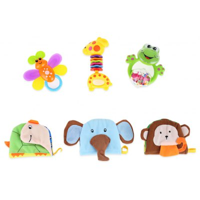 Baby Cloth Book Rattle Toy