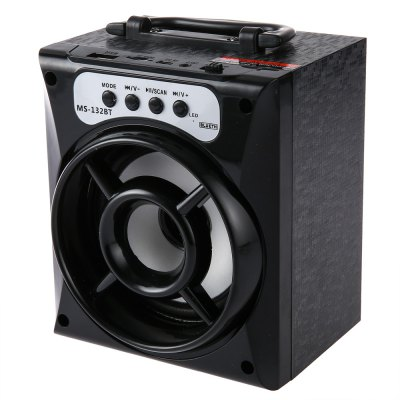 MS - 132BT Large Output Wireless Bluetooth Square Speaker Support AUX TF Input FM Function