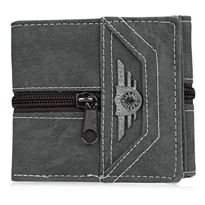 Punk Zipper Snap Fastener Letter Canvas Short WalletMens Wallets<br>Punk Zipper Snap Fastener Letter Canvas Short Wallet<br><br>Wallets Type: Clutch Wallets<br>Gender: For Men<br>Style: Punk<br>Closure Type: Zipper&amp;Hasp<br>Pattern Type: Solid<br>Main Material: Canvas<br>Hardness: Hard<br>Interior: Interior Slot Pocket<br>Embellishment: Letter<br>Height: 9.7 cm / 3.82 inch<br>Width: 2 cm / 0.79 inch<br>Length(CM): 11 cm / 4.33 inch<br>Product weight: 0.099 kg<br>Package weight: 0.123 kg<br>Package size (L x W x H): 11.50 x 2.50 x 10.20 cm / 4.53 x 0.98 x 4.02 inches<br>Package Contents: 1 x Wallet