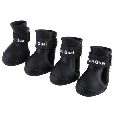 2 Pair Flexible Pet Paw Rain Boot Anti-slip Shoes