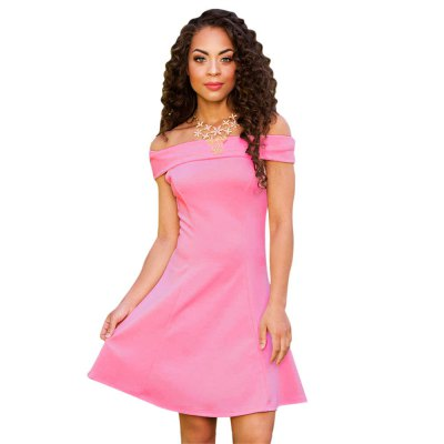 Sexy Off The Shoulder A-line Women Mini Dress