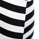 Sexy Off The Shoulder Striped Women Bodycon Dress photo
