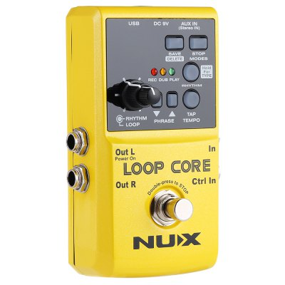 NUX Loop Core Guitar Effect PedalGuitar Parts<br>NUX Loop Core Guitar Effect Pedal<br><br>Remote Control: No<br>Product weight: 0.308 kg<br>Package weight: 0.392 kg<br>Product Size(L x W x H): 12.00 x 6.50 x 5.00 cm / 4.72 x 2.56 x 1.97 inches<br>Package Size(L x W x H): 13.00 x 9.50 x 6.00 cm / 5.12 x 3.74 x 2.36 inches<br>Package Contents: 1 x NUX Loop Core, 1 x Bilingual Manual in English and Chinese
