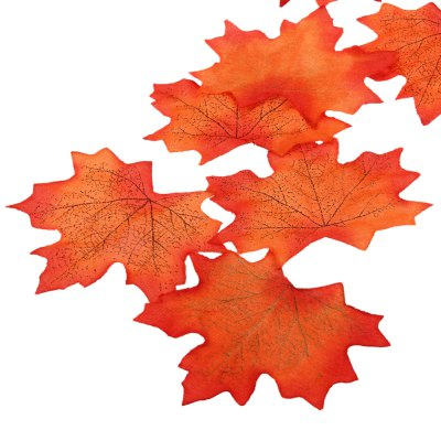 100pcs Artificial Cloth Maple Leaves