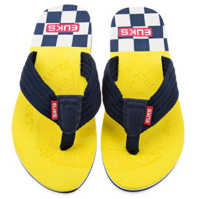 Color Block Skid Resistance Beach Flip FlopsSandals<br>Color Block Skid Resistance Beach Flip Flops<br><br>Gender: For Men<br>Shoe Width: Medium(B/M)<br>Pattern Type: Others<br>Embellishment: None<br>Outsole Material: PVC<br>Upper Material: Suede<br>Season: Summer<br>Style: Leisure<br>Weight: 0.295kg<br>Slipper Type: Outdoor<br>Package Contents: 1 x Pair of Men Flip Flops
