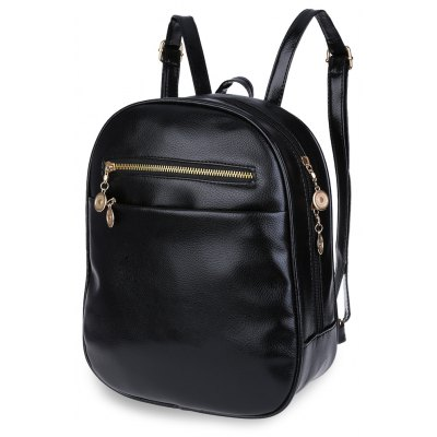 Guapabien Ladder Lock Button Shape Zipper Head Portable Backpack