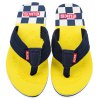cheap Color Block Skid Resistance Beach Flip Flops
