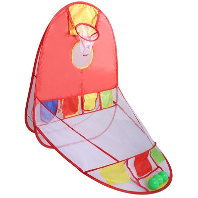 Children Portable Folding Basketball Tent Educational ToyOutdoor Fun &amp; Sports<br>Children Portable Folding Basketball Tent Educational Toy<br><br>Age Range: &gt; 3 years old<br>Dimensions: 107 x 110cm<br>Features: Foldable<br>Material: Cloth<br>Type: Tent<br>Product weight: 0.325 kg<br>Package weight: 0.350 kg<br>Package Size(L x W x H): 32.00 x 32.00 x 9.00 cm / 12.6 x 12.6 x 3.54 inches<br>Package Contents: 1 x Basketball Tent, 4 x Ocean Ball