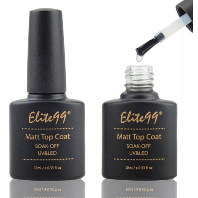 Elite99 Nail 10ml LED UV Top Coat Scrub Seal Glue Polish