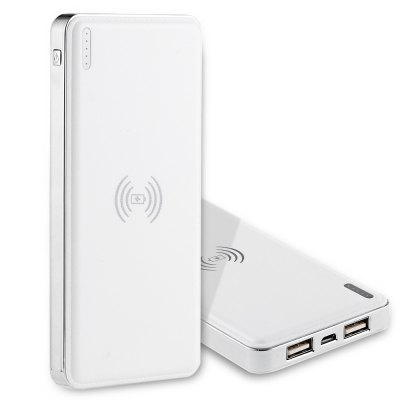 Ultra Slim Qi Wireless Charger 10000mAh Power Bank