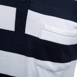 best Men Turn Down Collar Short Sleeve Color Striped Polo Shirt