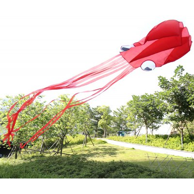 4M Frameless Soft Octopus Style Kite with 30m Line
