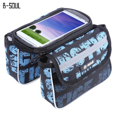 B - SOUL Bicycle Frame Pannier Saddle Touch Screen Front Tube Phone Bag