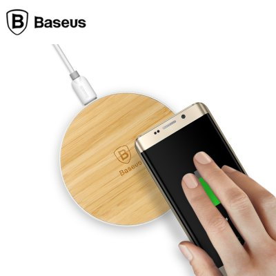 Baseus BS - RC01 Wood Qi Wireless Charger Aluminum Frame