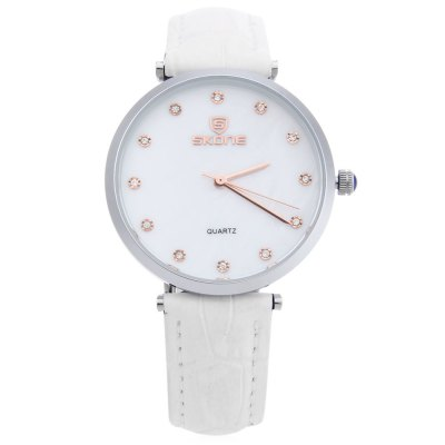 SKONE 9411 Women Quartz WatchWomens Watches<br>SKONE 9411 Women Quartz Watch<br><br>Band Length: 8.03 inch<br>Band Material Type: Genuine Leather<br>Band Width: 16 mm<br>Case material: Alloy<br>Case Shape: Round<br>Clasp type: Pin Buckle<br>Dial Diameter: 1.39 inch<br>Dial Display: Analog<br>Dial Window Material Type: Hardlex<br>Gender: Women<br>Movement: Quartz<br>Style: Dress<br>Water Resistance Depth: 30m<br>Product weight: 0.033 kg<br>Package weight: 0.054 kg<br>Product Size(L x W x H): 23.50 x 3.70 x 0.80 cm / 9.25 x 1.46 x 0.31 inches<br>Package Size(L x W x H): 24.50 x 4.70 x 1.80 cm / 9.65 x 1.85 x 0.71 inches<br>Package Contents: 1 x SKONE 9411 Women Quartz Watch