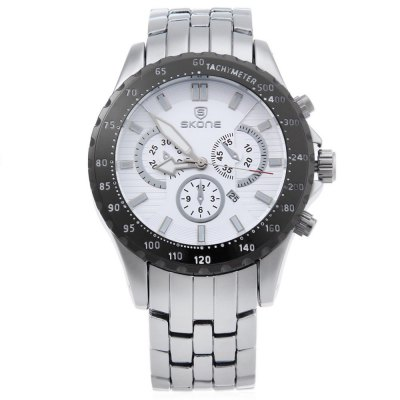 SKONE 7389BG Men Quartz WatchMens Watches<br>SKONE 7389BG Men Quartz Watch<br><br>Band Length: 9.06 inch<br>Band Material Type: Stainless Steel<br>Band Width: 22 mm<br>Case material: Alloy<br>Case Shape: Round<br>Clasp type: Folding Clasp with Safety<br>Dial Diameter: 1.85 inch<br>Dial Display: Analog<br>Dial Window Material Type: Hardlex<br>Feature: Date,Luminous<br>Gender: Men<br>Movement: Quartz<br>Style: Business,Dress<br>Water Resistance Depth: 30m<br>Product weight: 0.178 kg<br>Package weight: 0.199 kg<br>Product Size(L x W x H): 23.00 x 4.90 x 1.30 cm / 9.06 x 1.93 x 0.51 inches<br>Package Size(L x W x H): 12.50 x 5.90 x 2.30 cm / 4.92 x 2.32 x 0.91 inches<br>Package Contents: 1 x SKONE 7389BG Men Quartz Watch