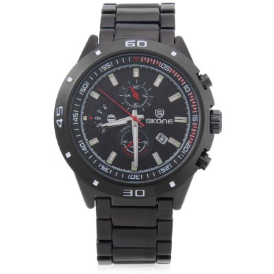 SKONE 7386BG Men Quartz WatchMens Watches<br>SKONE 7386BG Men Quartz Watch<br><br>Band Length: 8.27<br>Band Material Type: Stainless Steel<br>Band Width: 22 mm<br>Case material: Alloy<br>Case Shape: Round<br>Clasp type: Folding Clasp with Safety<br>Dial Diameter: 1.75 inch<br>Dial Display: Analog<br>Dial Window Material Type: Hardlex<br>Feature: Date,Luminous<br>Gender: Men<br>Movement: Quartz<br>Style: Business,Dress<br>Water Resistance Depth: 30m<br>Product weight: 0.133 kg<br>Package weight: 0.154 kg<br>Product Size(L x W x H): 21.00 x 4.70 x 1.20 cm / 8.27 x 1.85 x 0.47 inches<br>Package Size(L x W x H): 11.50 x 5.70 x 2.20 cm / 4.53 x 2.24 x 0.87 inches<br>Package Contents: 1 x SKONE 7386BG Men Quartz Watch