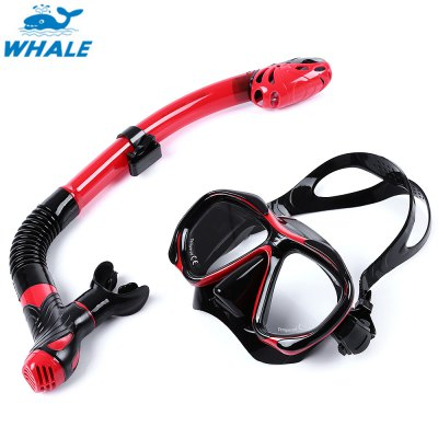 WHALE Diving Silicone Mask Snorkel Glasses Set