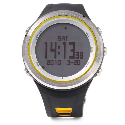 SUNROAD FR800NA Multifunctional Digital Sports WatchSports Watches<br>SUNROAD FR800NA Multifunctional Digital Sports Watch<br><br>Band Length: 8.27 inch<br>Band Material Type: Rubber<br>Band Width: 22mm<br>Case material: Stainless Steel<br>Case Shape: Round<br>Clasp type: Pin Clasp<br>Dial Diameter: 1.89 inch<br>Dial Display: Digital<br>Dial Window Material Type: Glass<br>Feature: Alarm,Altimeter,Back Light,Chronograph,Compass,Fitness Tracker,Led Display,Luminous<br>Gender: Men<br>Movement: Digital<br>Style: Sport<br>Water Resistance Depth: 50m<br>Product weight: 0.080 kg<br>Package weight: 0.270 kg<br>Product Size(L x W x H): 25.00 x 5.00 x 1.50 cm / 9.84 x 1.97 x 0.59 inches<br>Package Size(L x W x H): 10.50 x 10.50 x 8.50 cm / 4.13 x 4.13 x 3.35 inches<br>Package Contents: 1 x SUNROAD FR800NA Sports Watch, 1 x Chinese and English Manual, 1 x Cloth, 1 x Button Cell