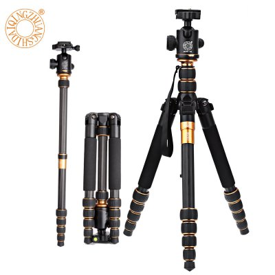 QZSD Q666C 62.2 Inches Lightweight Tripod Monopod with 1/4 Screw