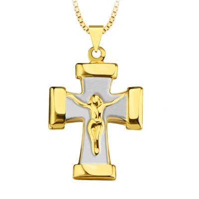 Jesus Figure Cross 18K Gold Plated Pendant NecklaceNecklaces &amp; Pendants<br>Jesus Figure Cross 18K Gold Plated Pendant Necklace<br><br>Gender: Unisex<br>Item Type: Pendant Necklaces<br>Metal Type: Copper<br>Necklace Type: Link Chain<br>Length of Chain: 50 cm / 19.68 inch<br>Style: Vintage<br>Shape/Pattern: Cross<br>Size of Pendant: Length: 2.8 cm / 1.10 inch<br>Surface Plating: 18K Gold Plated<br>Product weight: 0.006 kg<br>Package weight: 0.012 kg<br>Package size (L x W x H): 5.00 x 3.00 x 3.00 cm / 1.97 x 1.18 x 1.18 inches<br>Package Contents: 1 x Pendant Necklace