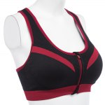 Women Fitness Shockproof Zipper Front Yoga Bra Top deal