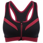 Women Fitness Shockproof Zipper Front Yoga Bra Top