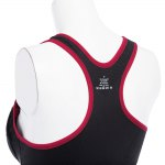 Women Fitness Shockproof Zipper Front Yoga Bra Top for sale