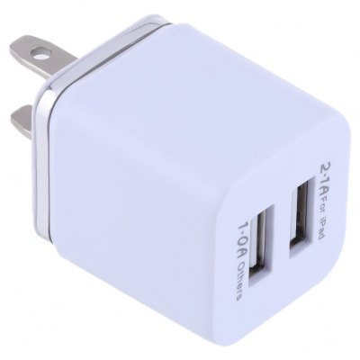 Double USB Ports Coloured Gilt-edged Charger Adapter